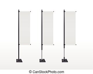 blank banner flags set