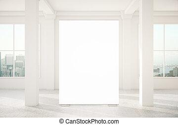 Blank banner in interior
