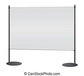 Blank banner japanese flag