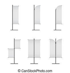 Blank banner japanese flag isolated on white