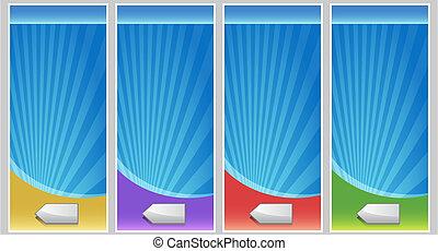 Blank Banner Set