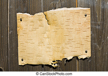 Bark On Wooden Background