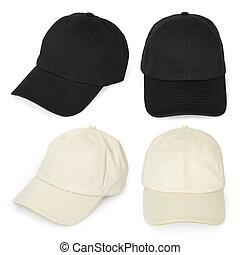 Blank baseball caps - Isolated blank baseball caps ready for...