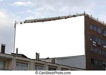 Blank Big Horizontal Wallscape Billboard - Including clipping path