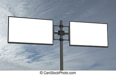 blank billboard, add your message - blank billboard, just...