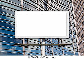 Blank Billboard and Office Buildings