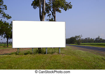 blank billboard - Clipping path in JPEG. Blank billoard.