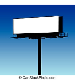 Blank Billboard - Blank billboard in blue sky background