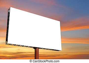 blank billboard for advertisement with sky background