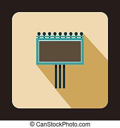 Blank billboard icon, flat style