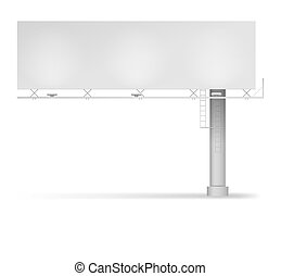 Blank billboard illustration