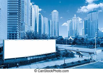 blank billboard in shanghai