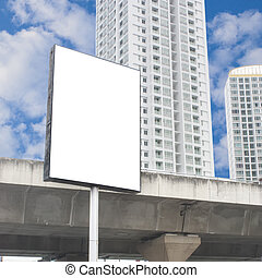 Blank billboard in the city.