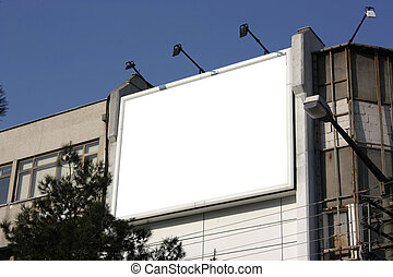 Blank Billboard - Including clipping path around blank area