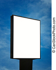 blank billboard, just add your text - blank billboard over...