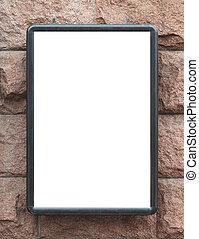 Blank billboard lightbox on the wall.