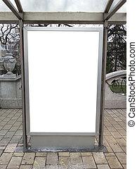 Blank billboard on street