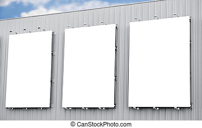 Blank billboard or poster in the city