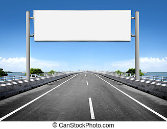 blank billboard or road sign - Kit for cleaning isolated on...