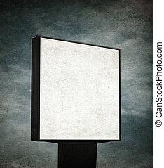 blank billboard over grunge background