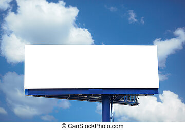 Blank billboard  - Outdoor advertising empty poster