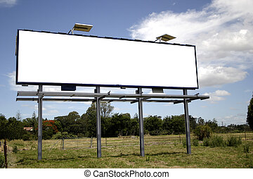 roadside billboard left blank for a designer to place on a message