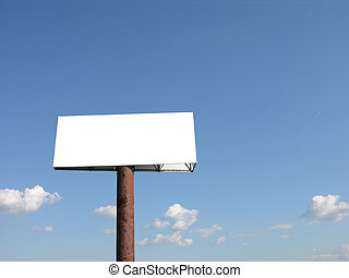 Blank Billboard with Blue Skies