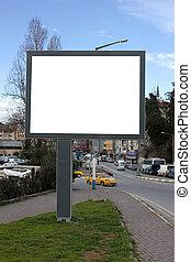 Blank Billboard with blue sky