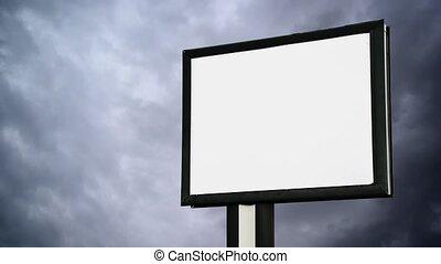 Blank Billboard with empty screen