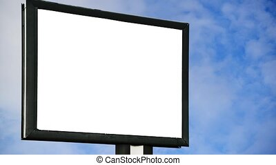 Blank Billboard with empty screen
