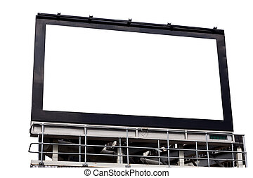blank billboard with space for text.