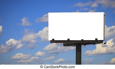 Blank Billboard with Time lapse - Billboard with background...