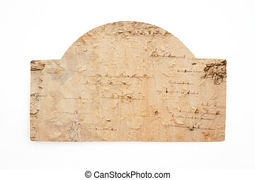 Blank birch wood sign for your message