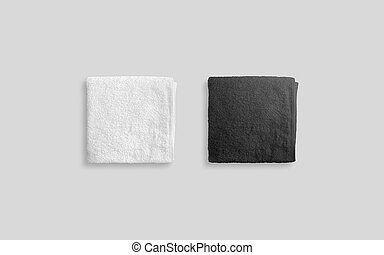 Black white soft beach towel mock up isolated clear stock image