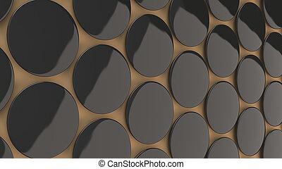 Blank black badge on orange background
