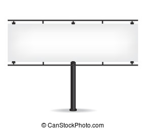 Blank black billboard