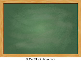 Empty realistic black board vector illustration
