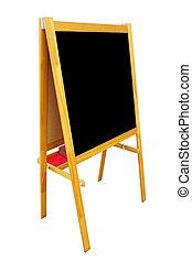 blank black board menu isolated