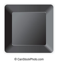 Blank black computer key