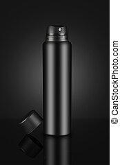 Blank Black Deodorant Perfume Spray Can for Mockups