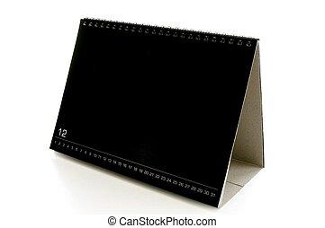 blank black desk calendar