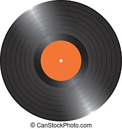 LP vinyl record - Blank Black LP vinyl record vector...
