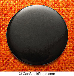 Blank black round badge