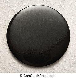Blank black round badge
