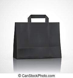 blank black shopping bag