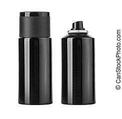 Blank black spray can