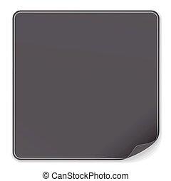 Blank Black Sticker