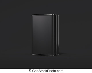 Blank black tin can. 3d rendering - Blank black tin can...