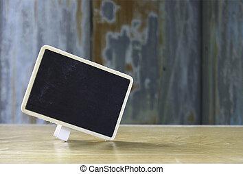 blank blackboard for text