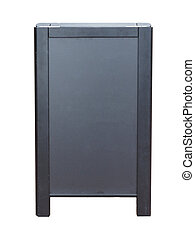 Blank blackboard isolated over white